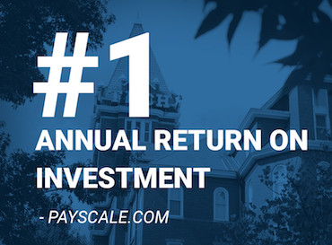 #1 Annual Return on Investment - Payscale.com